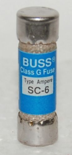 Bussmann Cooper Fuse SC6 Class G Fast Acting Time Delay 6 Amp