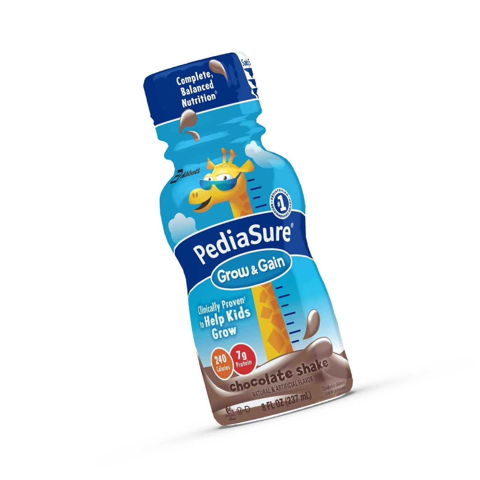 PediaSure Grow & Gain Nutrition Shake For Kids Chocolate 8 fl oz (Pack of 24)