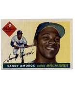 1955 Topps #75 Sandy Amoros Dodgers UER EX Excellent (RC - Rookie Card)  - $20.00