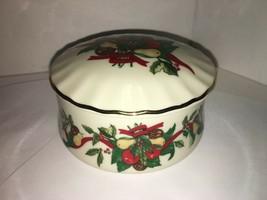 """vintage heritage house fine porcelain """"silent night"""" Music Box/ trinket holder - $7.50"""