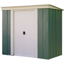 Garden Shed Metal Storage Tools Unit Double Sliding Doors Lockable 6x4Ft... - $402.67