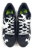 Under Armour Charged Baseball Metal Cleats MLB Authentic Black White Men... - $29.54