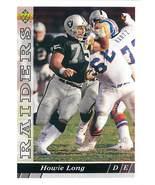 Howie Long, Rangers, Upper Deck 1993, #292 - $1.25