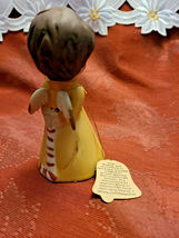 Vintage 1978 • Jasco • Angel Wishing Bell • Fine Bisque Porcelain • Handcrafted image 5
