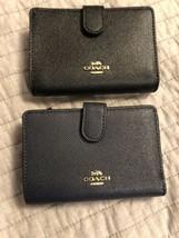 Coach LTH cross grain Medium Wallet Corner Zip Sig PVC Leather  F67565  $188 - $69.99