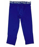 Nike Boy's Pro Training Tights 3/4 Length Blue S 858228-480 - $29.99