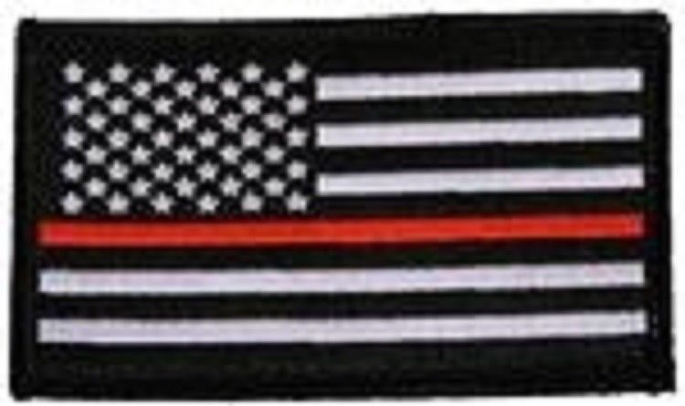 Primary image for THIN RED LINE BLACK FLAG 2 X 3  EMBROIDERED PATCH WITH HOOK LOOP