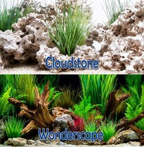 Seaview CloudStone/Wonderscape 18in Aquarium Double-sided Background BGC... - $6.76+
