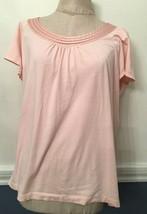 XL Dana Buchman Intimates Short Sleeve Pink Pajama Sleep Top - $14.96