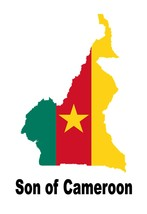 Son of Cameroon Country Map Flag Poster Print High Quality Print - $6.90+