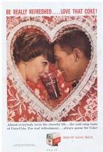 1959 Coca Cola Couple in Love Valentine's Day Print Ad - $9.99