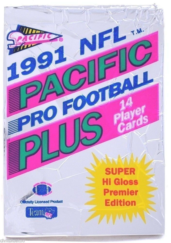 Unopened Pack 1991 NFL Pacific Pro Football Plus Hi-Gloss Cards Premier Edition