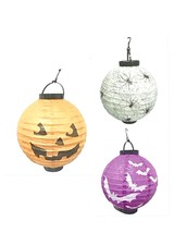 Paper LED Lanterns Battery Operated Halloween Holiday Party - $6.99