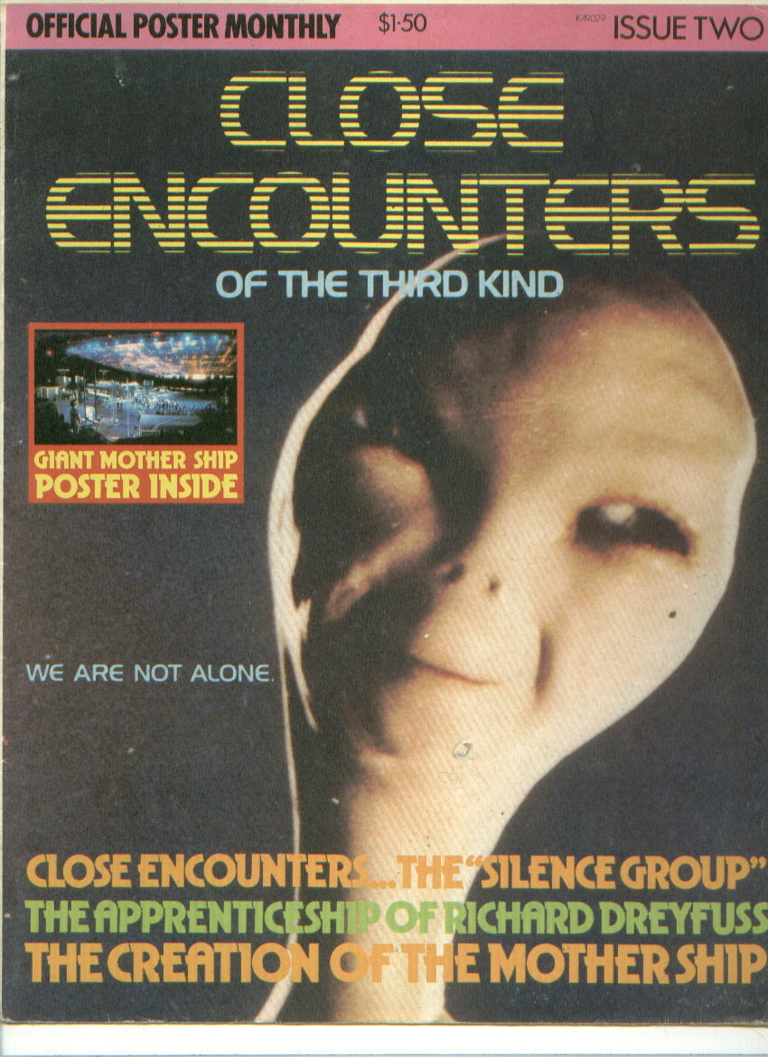 CLOSE ENCOUNTERS OF THE THIRD KIND bubble gum trading cards + POSTER MAGAZINE