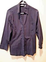e1c6841b038 Riders by Lee Women  39 s Easy Care Long Sleeve Button Down Shirt Size