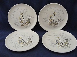 "4 Marcrest Stetson Gay Nineties 6 3/8"" Bread Dessert Plates See Conditio... - $9.95"