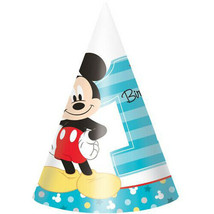 Mickey Party HATS 1st First Birthday Decoration Party Supplies Boy ~8PCs Blue NW - $9.85
