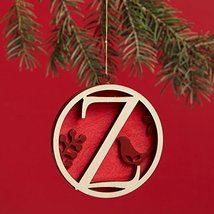 Enesco Flourish Letter Z Monogramed Ornament, 3.2-Inch