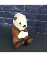 "Fiesta Plush Ozzie Sea Otter Holding Clam Shell 7"" Stuffed Animal Brown ... - $15.83"