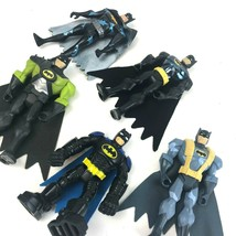 "BATMAN Action Figure Lot DC Comics 5 Batman 5"" Green Metallic Gray Capes  - $31.75"
