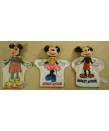 Vintage Disney Mickey Mouse Hand Puppets Qty 3 - $47.16
