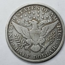1906 Silver Barber Half Dollar Coin Lot A 190 image 2