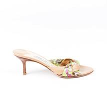 Jimmy Choo Interwoven Scarf Slide Sandals SZ 37 - $145.00