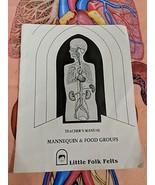 Little Folk Felts Mannequin Food Groups Set Teacher's Manual Felt Pieces - $53.95