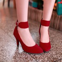 fashion spring summer women pumps pointed toe red bottom high heels shoes women