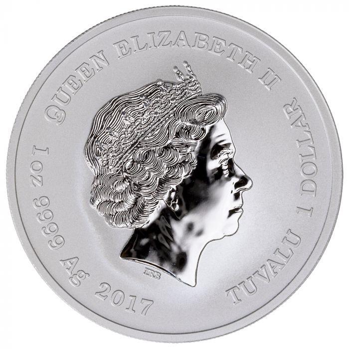 2017 1 oz Tuvalu Spiderman Marvel Series Silver Coin .9999 Fine Silver FREE Cap