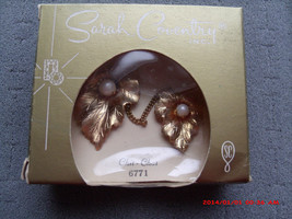 Vintage Sarah Coventry CHIT-CHAT Chatelaine Brooch Costume Jewelry Mint In Box - $28.00