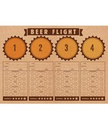"Cheers & Beers 14"" x 10"" Beer Flight Placemat, Case of 288 - $58.71"