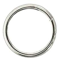 "U-2"" X 6.2Mm Hilason Western Horse Tack Welded Wire Ring Nickel Plated U-55NP - $7.87+"