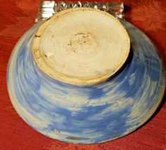 """HAND TURNED AND PAINTED JOSEPH THE SHEPHERD EARTHENWARE BOWL 6 1/4"""" x 1 3/4"""" image 4"""