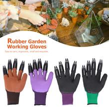1 Pair Garden Gloves For Digging Planting Garden Working Genie Rubber Gl... - $31.84