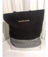Victoria's Secret Black and Silver Glitter Tote Bag - $45.00