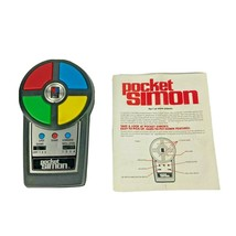 Milton Bradley Pocket Simon Electronic Handheld Game With Instructions Vintage - $29.99