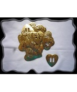 Conchos Western Gold Heart Double Slotted 11 Pc - $4.00