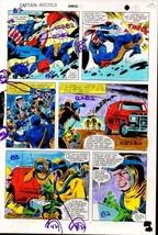 Original 1981 Colan Captain America Annual Marvel Comics color guide art... - $59.39
