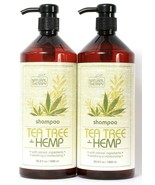 2 Bottles Natural Therapy 33.8 Oz Tea Tree & Hemp Soothing Moisturizing ... - $33.99