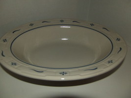 Longaberger Pottery WOVEN TRADITIONS Dinner Serving Bowl ~ CLASSIC BLUE ... - $48.51