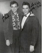 Elvis Presley Johnny Cash 1957 Vintage 8X10 BW Music Memorabilia Reprint... - $7.99