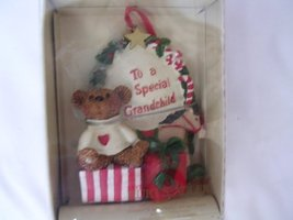 """Holly Bearies Christmas Ornament Teddy Bear 3.5"""" Collectible ; """"To a Special Gra - $17.50"""