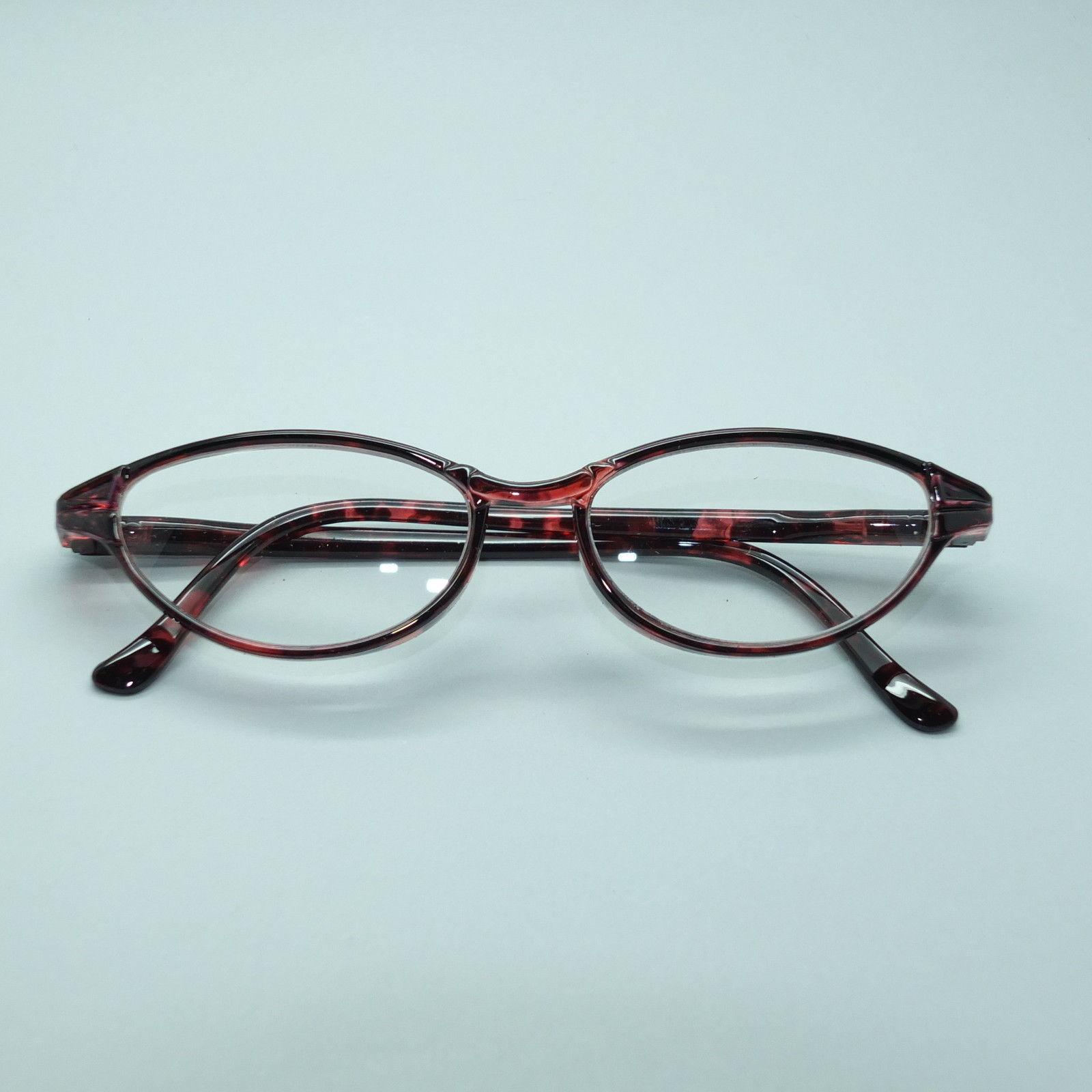 Funky Oval Hot Cat Reading Glasses +1.25 Lens Pink Black Lightweight Frames