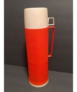 """Vintage King Seeley Quart Size Thermos #84A73 Orange 13 1/2"""" Insulated H... - $15.88"""