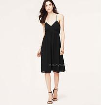 Nwt Ann Taylor Loft Racerback Black Cami Stylish Casual Lite Summer Dress Size 2 - $59.99