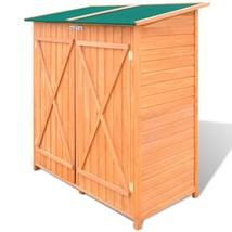 vidaXL Outdoor Wooden Storage Shed Utility Tool Organizer Yard Garden w/... - $272.99