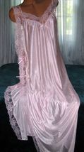 Light Pink Toga Style Tie Side Long Nightgown 1X 3X Plus Size Lingerie G... - $22.75