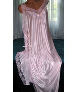 Light Pink Toga Style Tie Side Long Nightgown 1X 2X 3X Plus Size Lingeri... - $22.75
