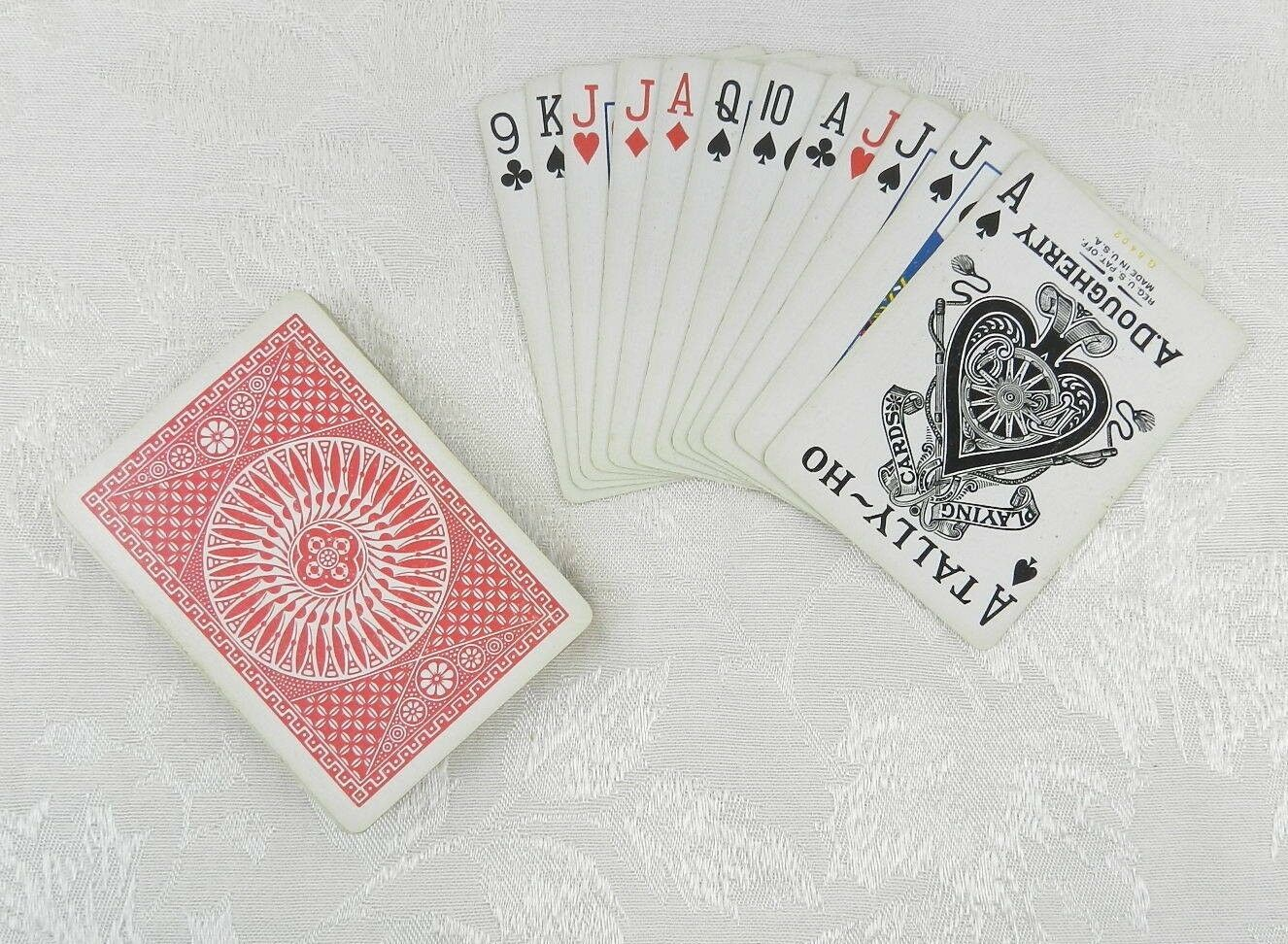 A. Dougherty Tally-Ho Pinochle Playing Cards ~ Circle Back ~ Complete Set - $14.84